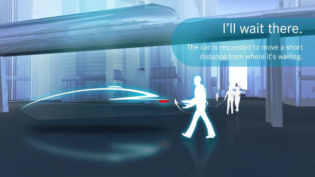 Gesture communication between humans and autonomous driving cars  Foto: www.mercedes-benz.com