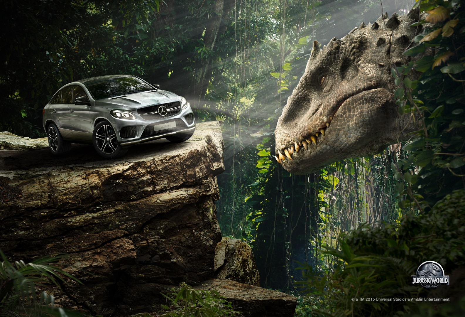 Alpha Car, the new Mercedes-Benz GLE Coupé in Jurassic World  Photo: Mercedes-Benz