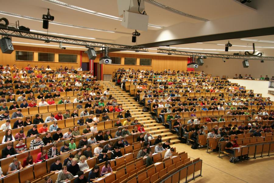 Hörsaal am KIT in Karlsruhe  Foto: www.kit.edu