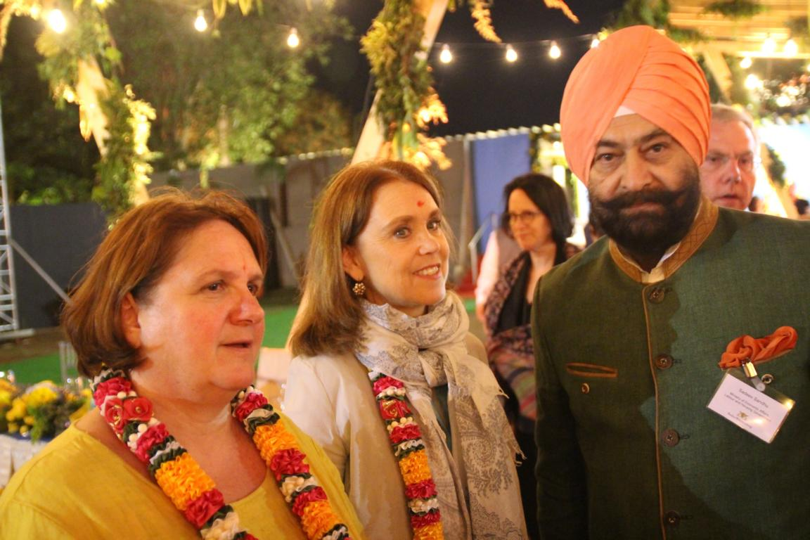 Staatsministerin Theresa Schopper, Petra Olschowski, Staatssekretärin im Ministerium für Wissenschaft, Forschung und Kunst, und Sadeev Sandhu, Representative for the Republic of India  Foto: www.jowapress.de