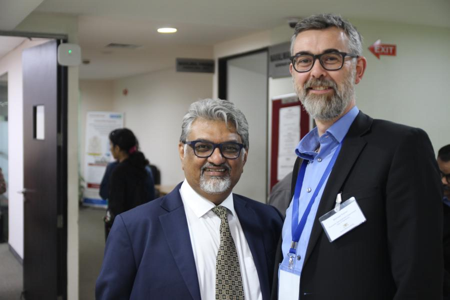 "Meeting in Pune – 2020, Ajay Mehta, ""Mahratta Chamber Of Commerce Industries & Agriculture"", and Michael Kaiser, Director of Business Development Department Karlsruhe - 2020_02_04 Pune – Source jowapress"
