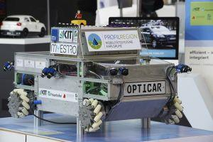 "The ""OPTICAR"" vehicle is used to test new environmental recognition methods for autonomous driving. Photo: KIT"