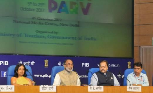 "The Minister informed that the ""Paryatan Parv"" will have three main components  Photo: pib.nic.in"