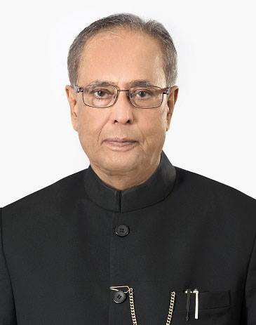 Pranab Kumar Mukherjee is the 13th and current President of India, in office since July 2012.  Foto: PR